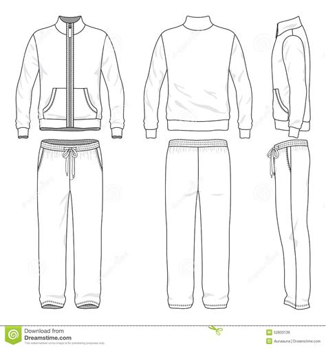 sports jacket template suit stock vector image 52833139