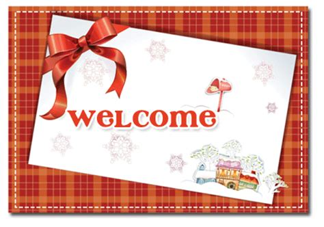 Welcome Card Design Template by Free Card Ribbon Ebay Template Free