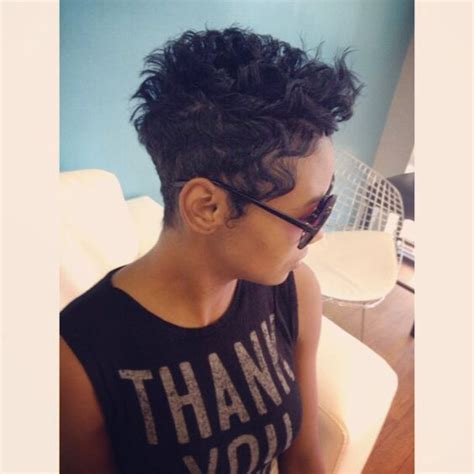 cut curly hair portland oregon short wavy pixie cut curled and styled by salon pk