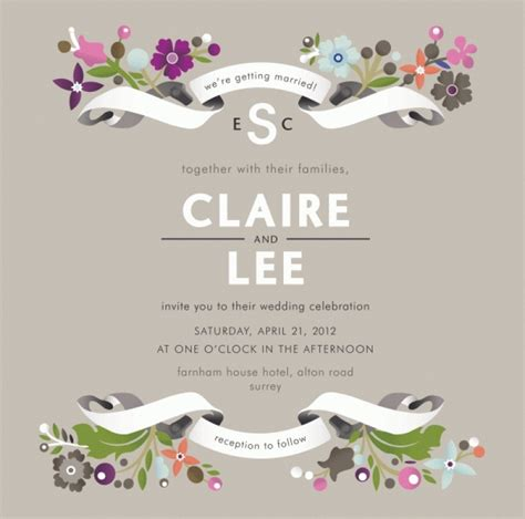 wedding invitation card free template wblqual com