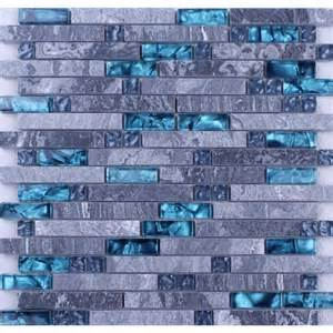 home gray stone blue glass mosaic tiles backsplash kitchen wall tile subway colors and countertops