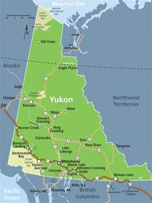 yukon map yukon alaska yukon canada and