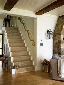 Rustic Lake House Decorating Ideas corde decoration rampe escalier thedesignerpad