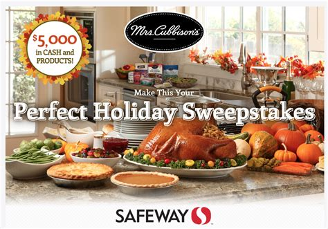 Mrs Cubbison S Sweepstakes - mrs cubbison s holiday sweepstakes challenge butter coupon super safeway