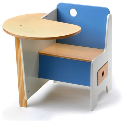 Kid Desk Furniture Mini Drawer Doodle Desk Blue Modern Desks And Desk Sets By Design