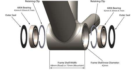 Dijual Bb Press Fit Fsa Ceramic Diameter 46mm Untuk Crank Shimano Holl Bb30 Vs Pf30