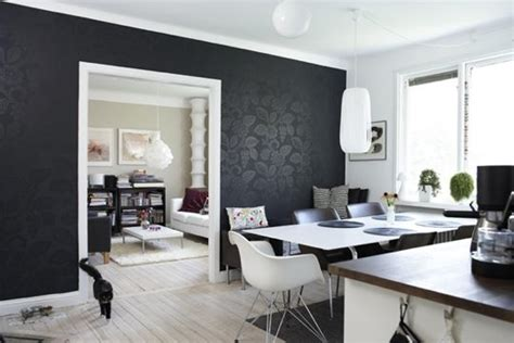 rooms with black walls decorating with black four walls and a roof
