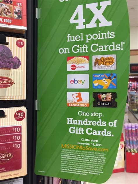 Kroger Gift Cards 4x Fuel Points - kroger 4x fuel points is back for holiday shopping mission to save