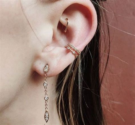 best 25 outer conch piercing ideas on inner