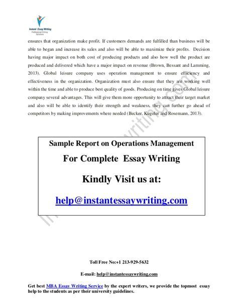 Marriott Revenue Management Study Mba Operations Management by Sle On Operations Management By Instant Essay Writing
