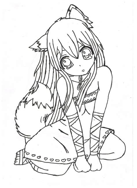 anime coloring page print anime coloring pages coloring home
