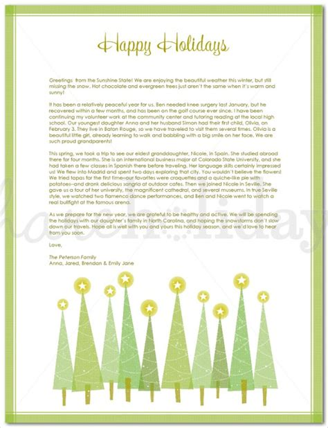 23 holiday letter templates free sle exle format