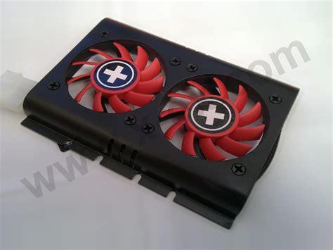 xilence silent dual fan harddrive cooler 6cm