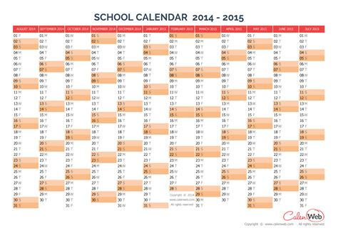 2014 2015 academic calendar template 2014 2015 yearly school calendar annual school calendar