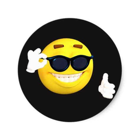 Sticker Smileys by Smiley Quot Thumbs Up Quot Emoji Stickers Zazzle