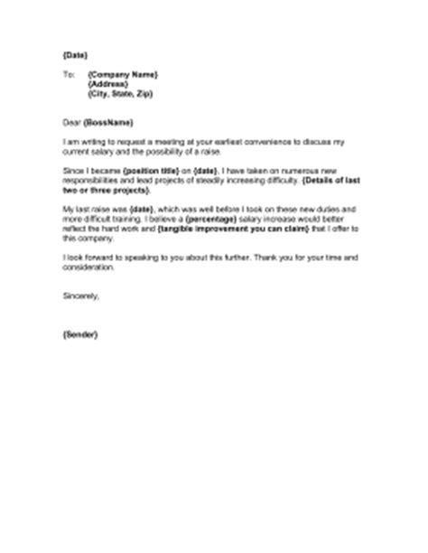 raise request letter template