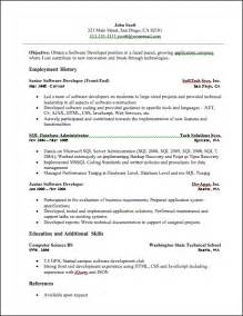 resume samples for net developer