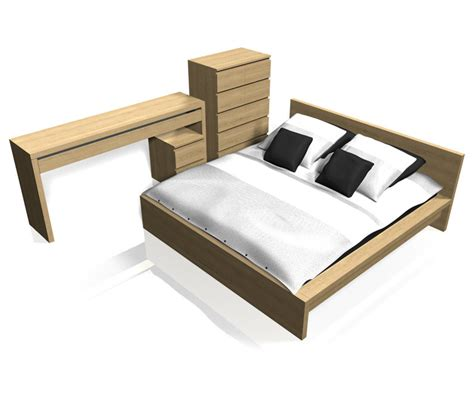 ikea malm bedroom furniture 3d c4d