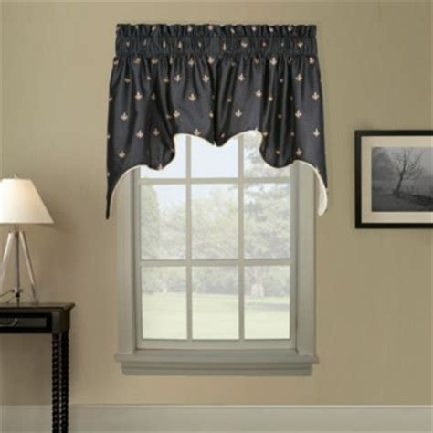 Black Window Valance Buy Black Window Valances From Bed Bath Beyond