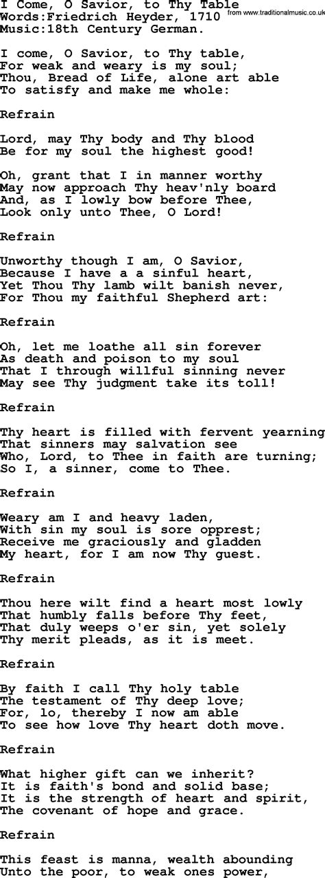 come to the table hymn hymns and songs for the eucharist communion i come o