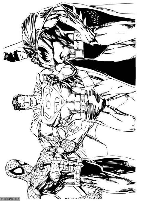 coloring pages of batman and superman free coloring pages of spiderman vs batman