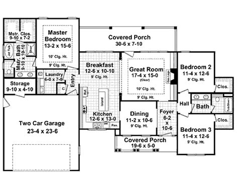 craftsman style house plan 3 beds 2 baths 1800 sq ft plan 21 279