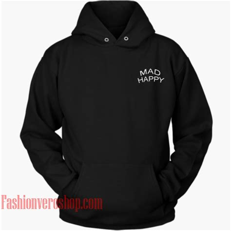 mad happy hoodie unisex clothing