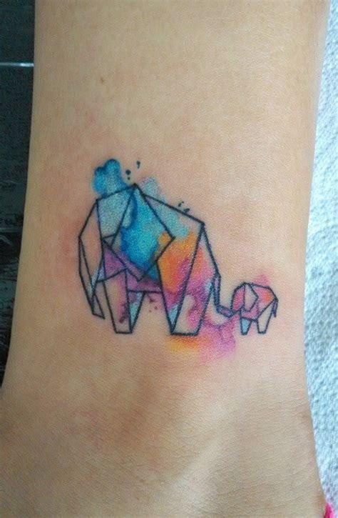 watercolor tattoo origami watercolor elephant by mando alducin watercolor