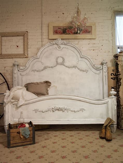 Painted Cottage Shabby Grey King Romance Bed Eastern Or Shabby Chic Bed Frame King
