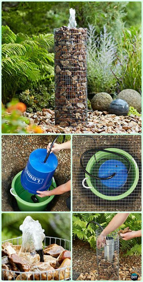diy garden fountain landscaping ideas projects
