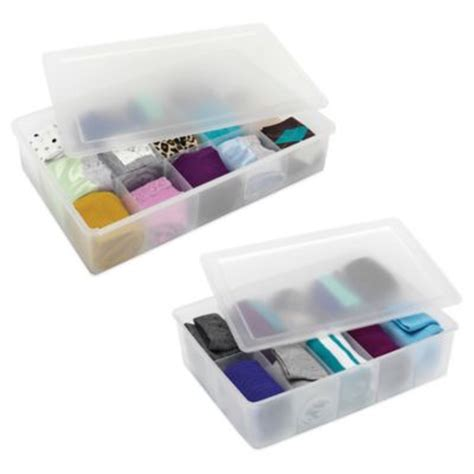 whitmor 3 section drawer organizer buy storage boxes with lids from bed bath beyond