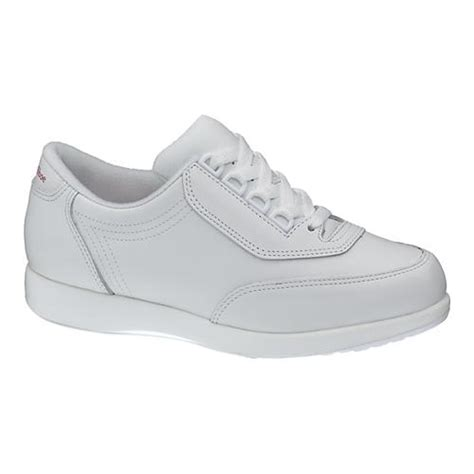 hush puppies classic walker casual shoes in white leather
