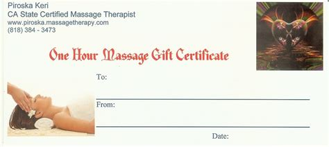 best photos of massage gift certificate template