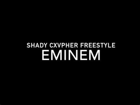 eminem xl freestyle lyrics eminem freestyle lyrics shady cxvpher youtube