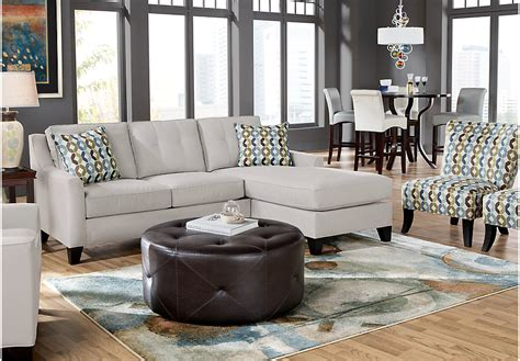 cindy crawford living room sets cindy crawford home madison place platinum 6 pc sectional
