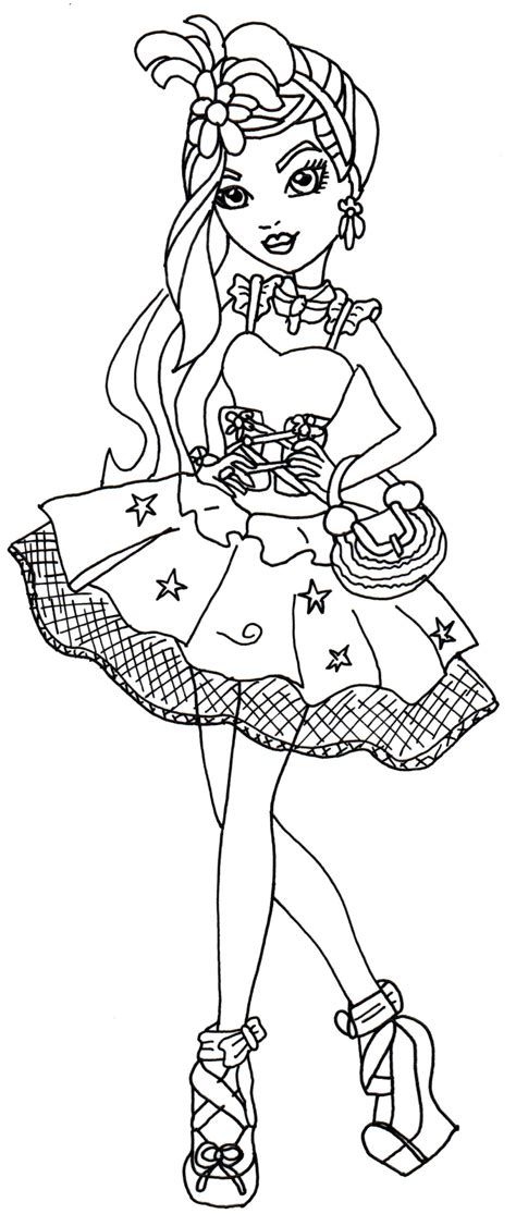 ever after high coloring pages poppy o hair free printable ever after high coloring pages duchess