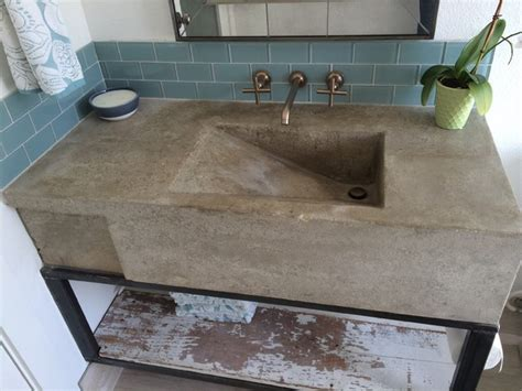 how to make a concrete sink for bathroom custom concrete sink modern austin by build austin