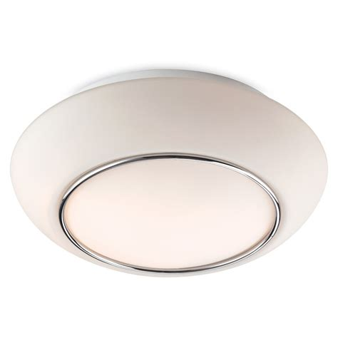 Flush Fitting Ceiling Lights Uk 8377ch Style Flush Fitting Opal Glass With Chrome