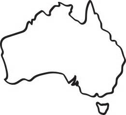 australia map outline outline of australia clipart best