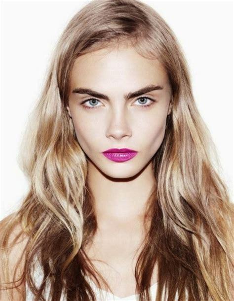 cara delevingne pink lipstick top cara delevingne makeup looks bold eyebrows smokey eyes