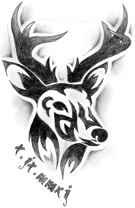 tribal deer tattoo deer tribal tattoosugg stovle