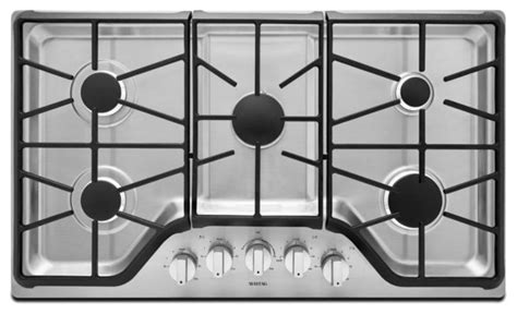 modern gas cooktop maytag mgc9536ds stainless steel gas cooktop modern