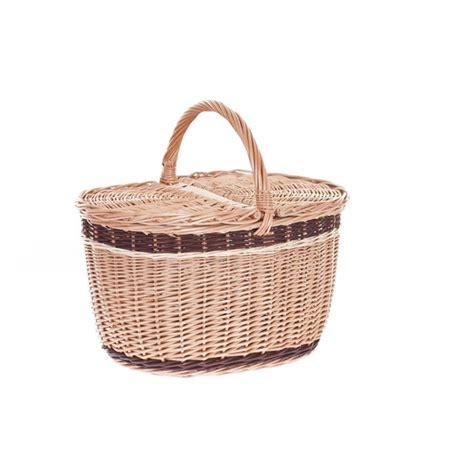 shabby chic wicker picnic basket with bicycle basket tytuł sklepu zmienisz w dziale