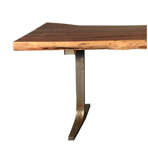 rustic live edge solid wood industrial dining table with