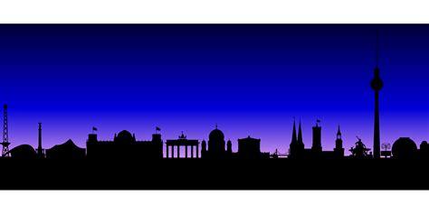 skyline berlin buildings  vector graphic  pixabay