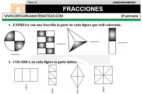 ejercicios de fracciones de cuarto de primaria genial fracciones cuarto primaria fotos ayuda para tu