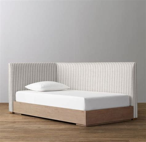 corner platform bed 1000 images about house bedroom headboard on