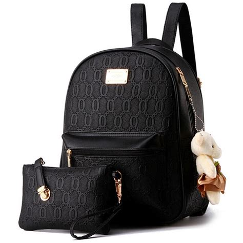 tas ransel fashion wanita bag in bag 2 in 1 black