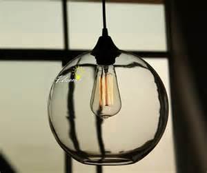simple pendant lighting modern simple orb clear glass pendant lighting
