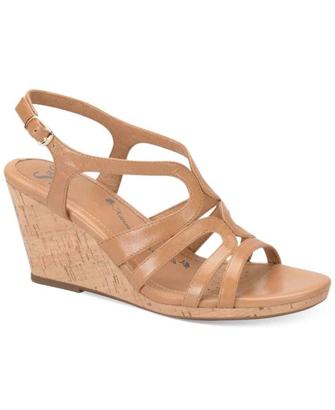 wedge sandals lyst s 246 fft corinth platform wedge sandals in brown